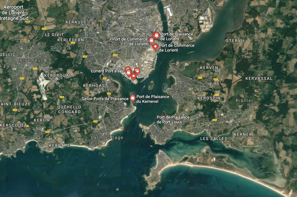 Port de Lorient service croisière BLB shorex